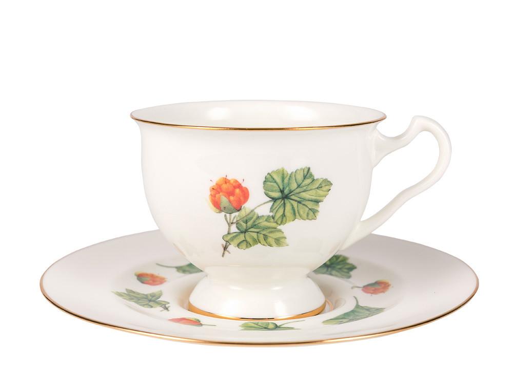 Чашка с блюдцем Морошка. Императорский фарфор, авторская работа