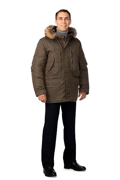 Куртка мужская зимняя «Капитан» (коричневая)