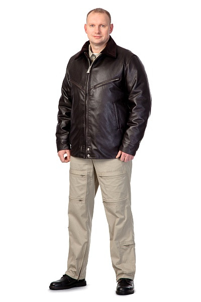 Куртка мужская лётная кожаная «Классика»