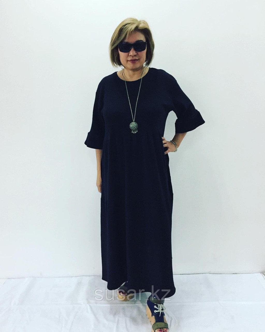 Платье черное многоярусное