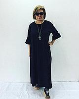 Платье черное многоярусное, фото 1