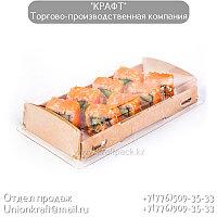 Эко-упаковка для суши с купольной крышкой 600мл 200*100*40 (Eco OpBox 600) DoEco (200)