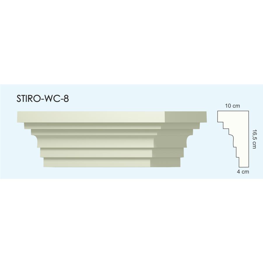 Верх окон STIRO-WC-08