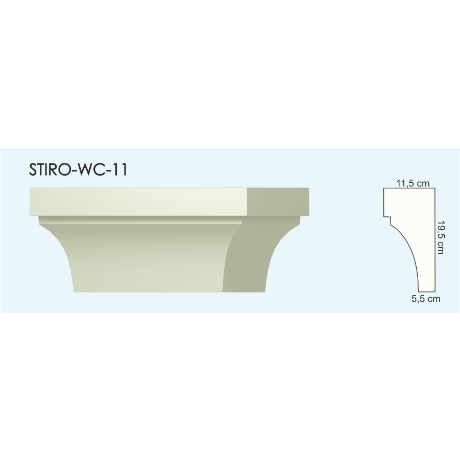 Верх окон STIRO-WC-11