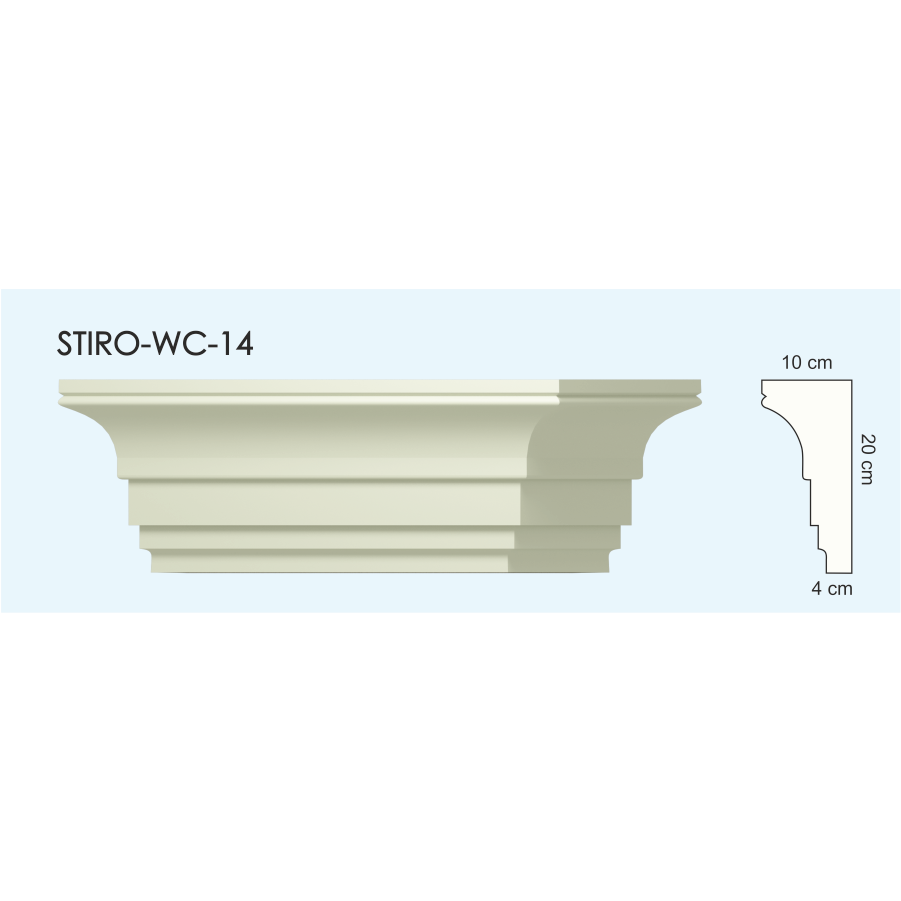 Верх окон STIRO-WC-14