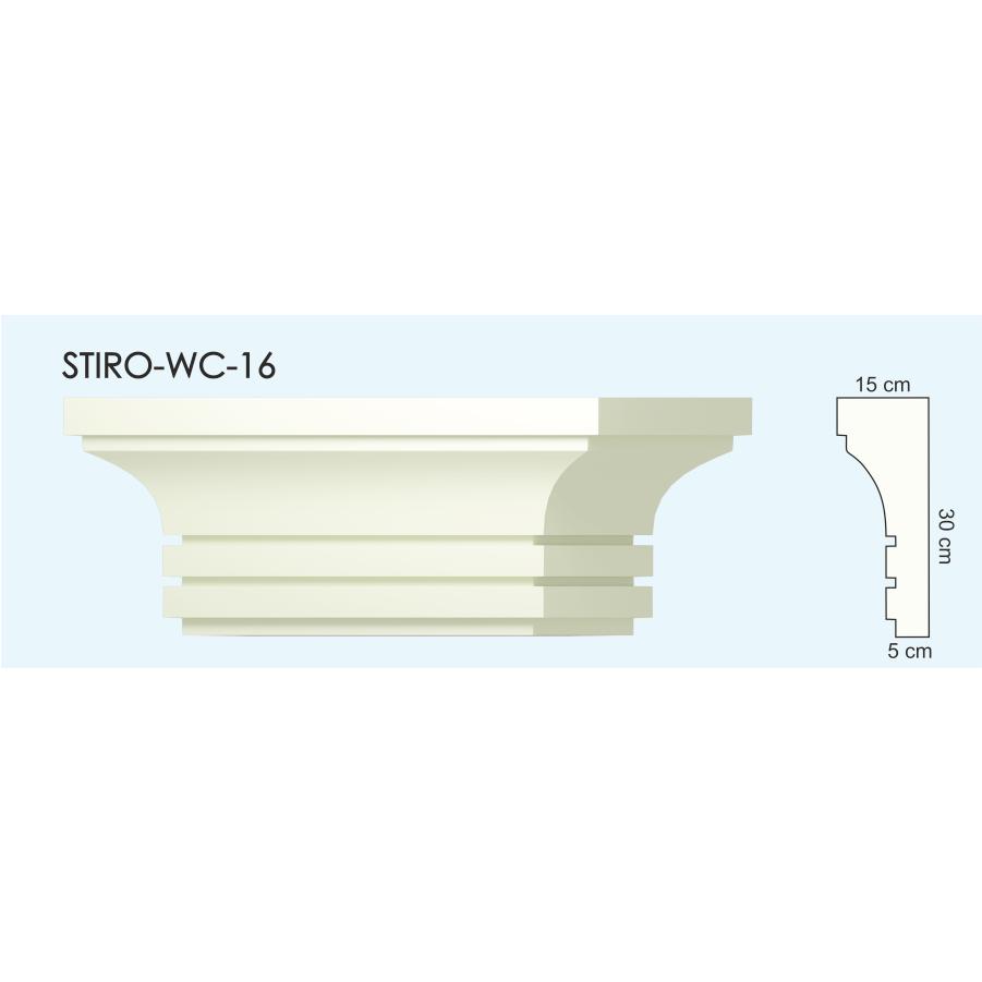 Верх окон STIRO-WC-16