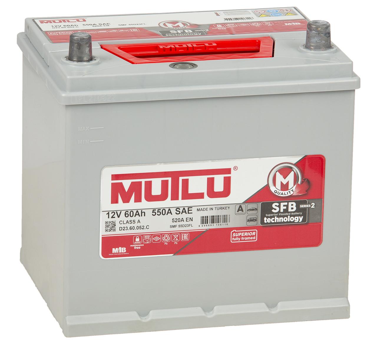 MUTLU 60AH SMF55D23FL