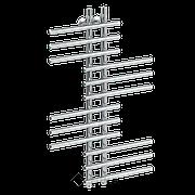 Полотенцесушитель водяной нерж. сталь ЛБ-5 100/10/80 см Ника