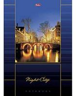 "Бизнес-блокнот ""Hatber"", 160л, А4, клетка, твёрдый переплёт, серия ""Night City"