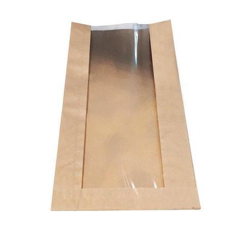 Пакеты  200*70*360мм, без печати из крафт-бумаги 40 г/м2 с демонстрационным окном 120мм, 2000 шт, фото 2