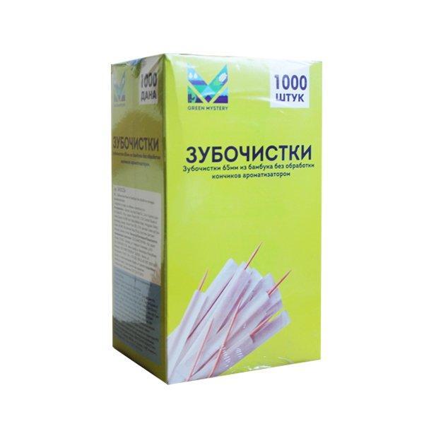 Зубочистки 65 мм., бамбук в инд. ПП уп.1000 шт/упак, 1000 шт