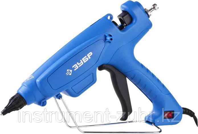 Пистолет ЗУБР клеевой (термоклеящий), эл, эргоном рукоятка, выключатель на рукоятке, рабоч темп 193град, d=12м, фото 2