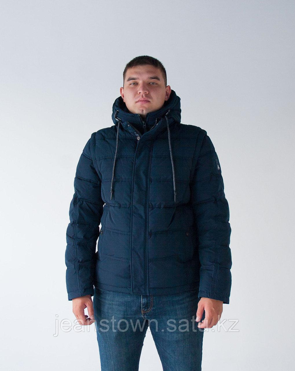 Куртка мужская зимняя Kings Wind синяя,короткая