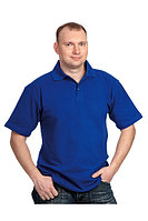 Сорочка с воротником «Поло» васильковая