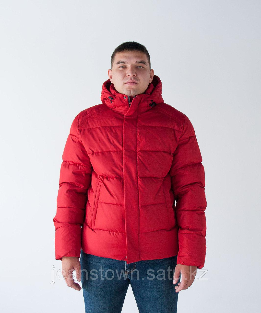 Куртка мужская зимняя  KINGS WIND   короткая  красная