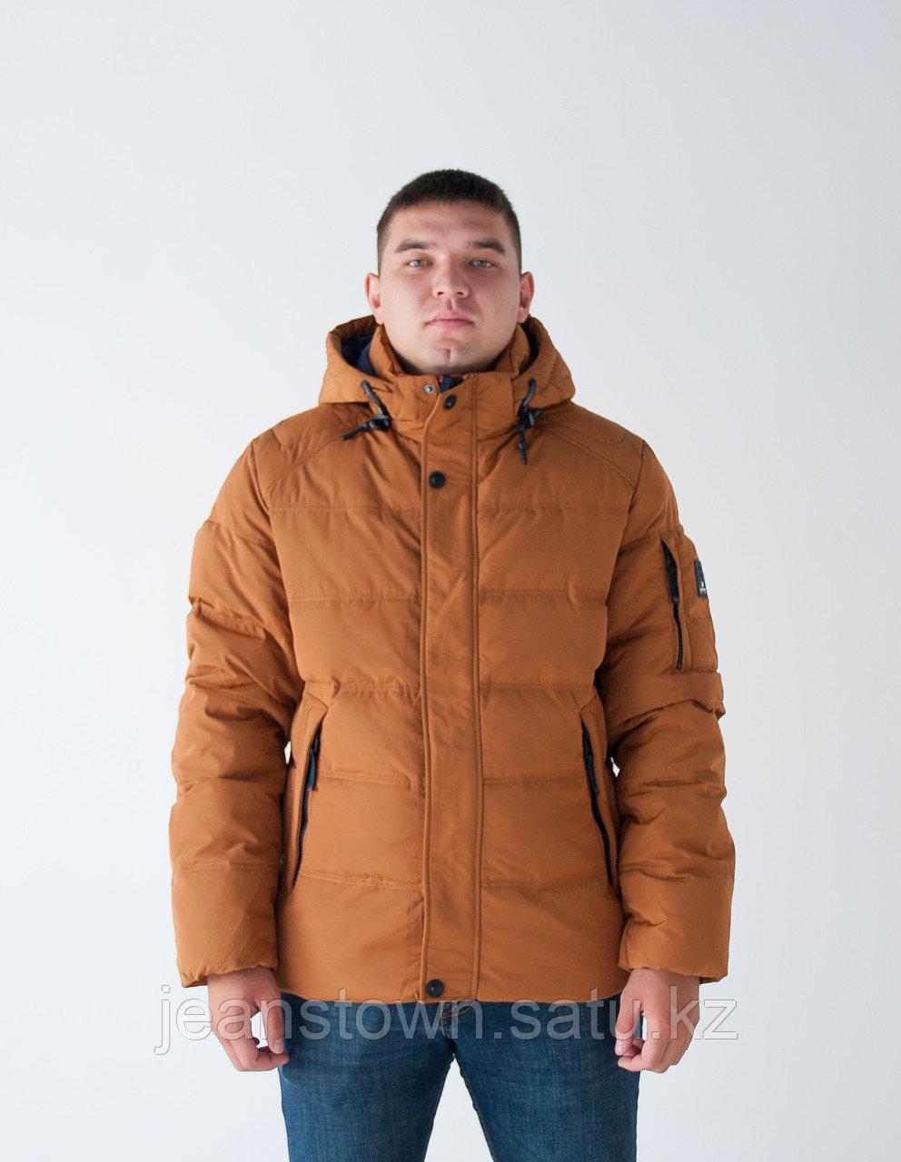 Куртка мужская зимняя  KINGS WIND   короткая  оранжевая