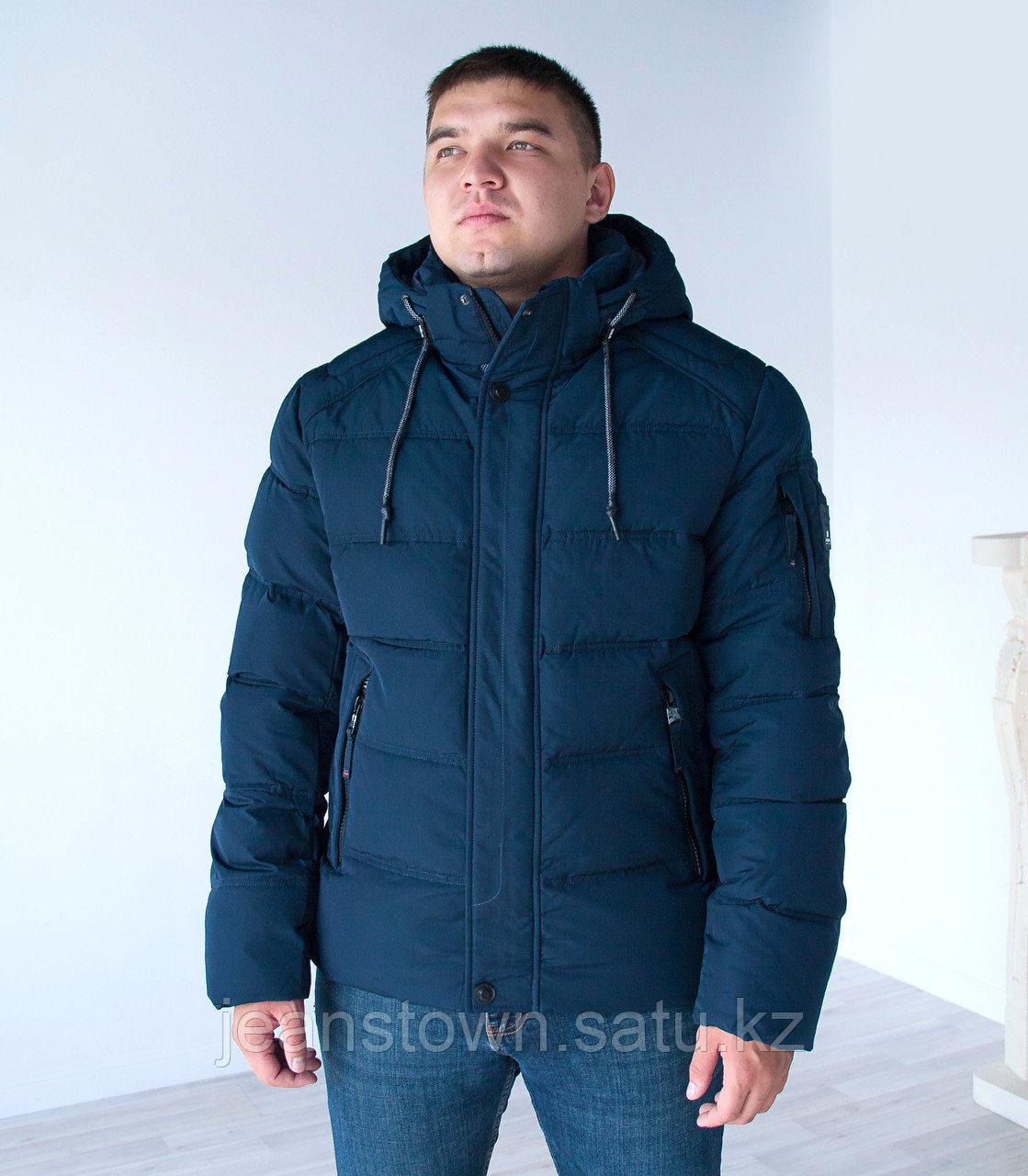 Куртка мужская зимняя  KINGS WIND   короткая  синяя
