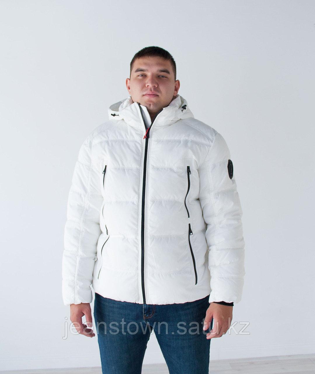 Куртка мужская зимняя  KINGS WIND   короткая  белая