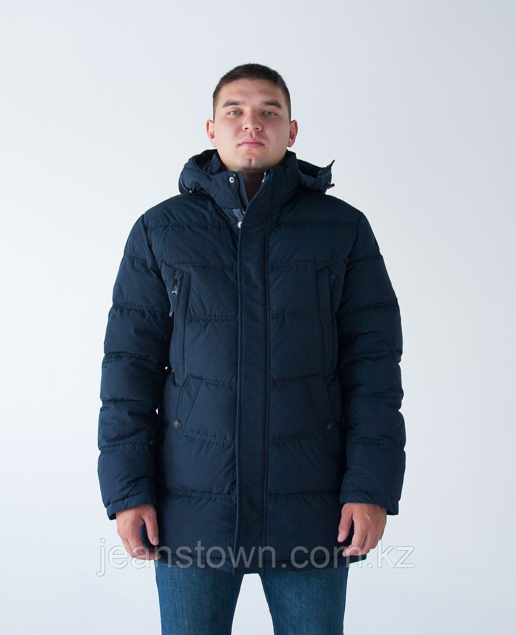 Длинная  зимняя мужская куртка  KINGS WIND   синяя