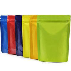 Пакеты дой-пак металлизированные цветные с замком зип-лок (zip-lock)