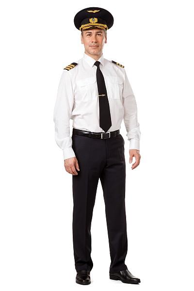 Сорочка мужская белая, длинный рукав