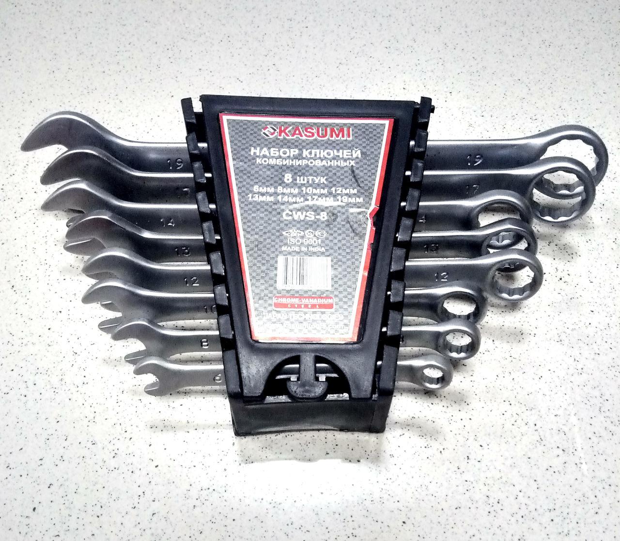 Набор ключей комбинированных, 6-19 мм, 8 шт KASUMI