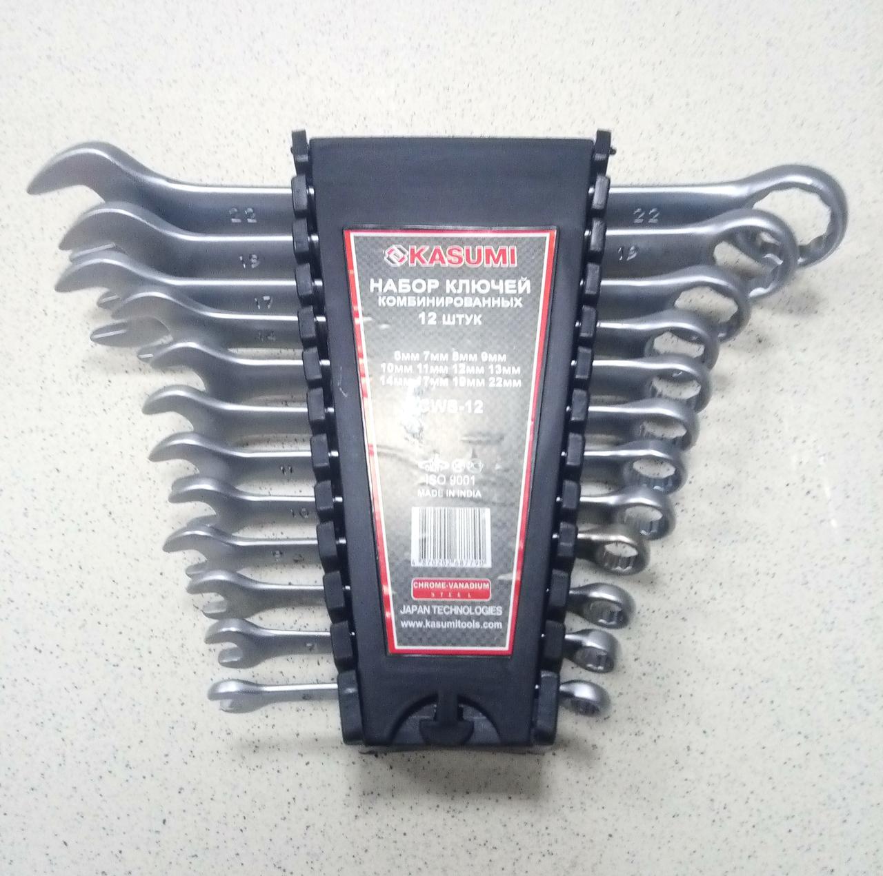 Набор ключей комбинированных, 6-22 мм, 12 шт KASUMI