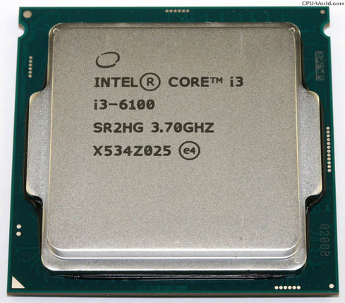 CPU Intel Core i3-6100, 3.7GHz, фото 2