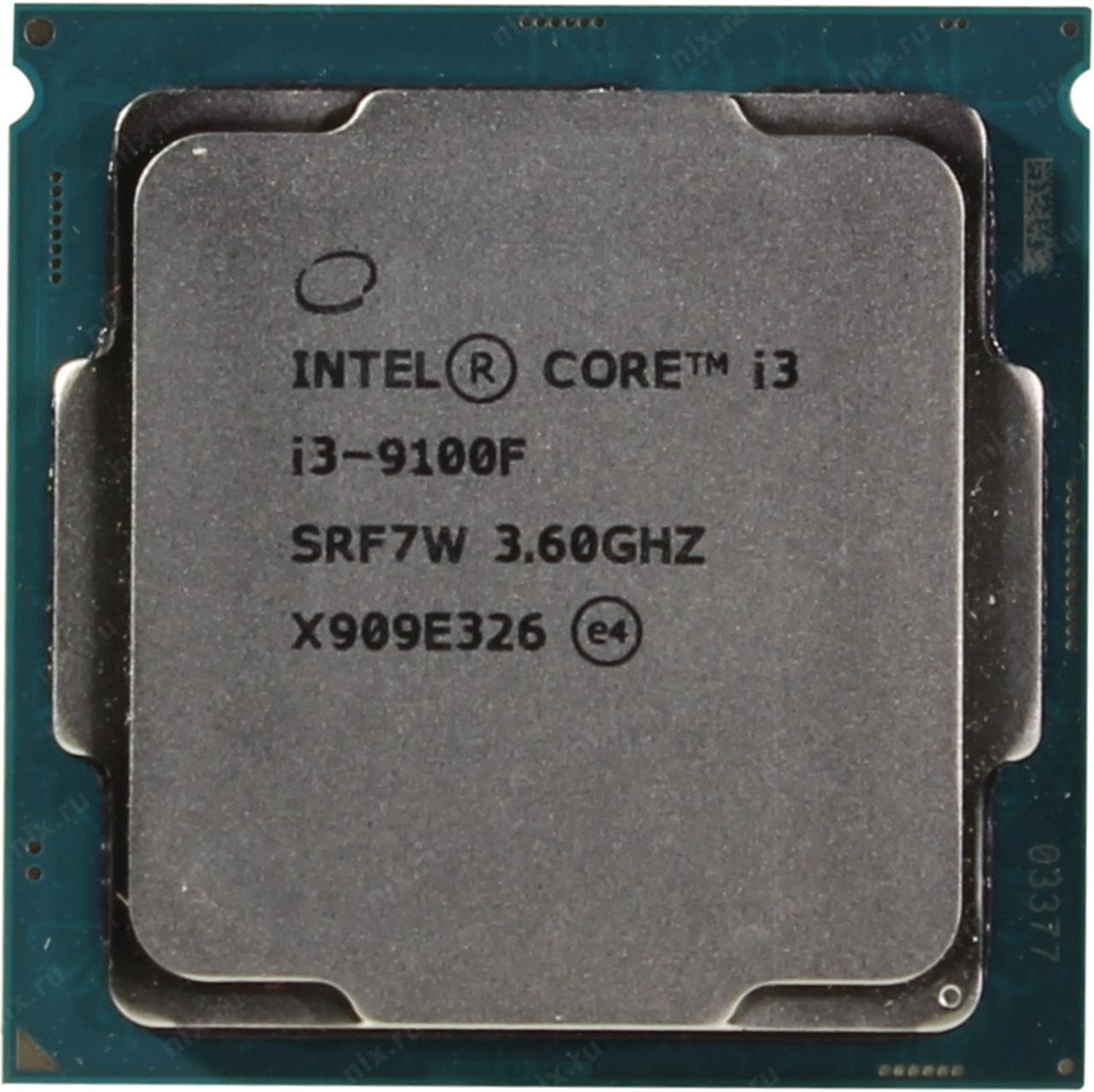 Процессор Intel 1151 i3-9100 3,6GHz (4,2GHz) 6Mb