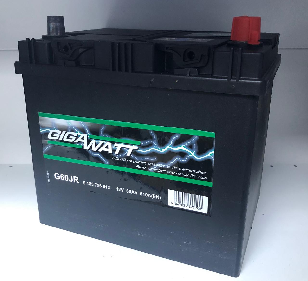 Аккумулятор автомобильный GIGAWATT 60 Ah 560 412 051