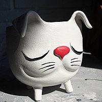 Керамический горшок Котёнок