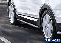 Защита порогов d57 Hyundai Santafe Premium, 2015-2016