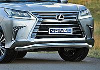 Защита переднего бампера d76 волна Lexus LX, 2015-