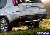 Защита заднего бампера d57 Nissan X-Trail, 2011-2015