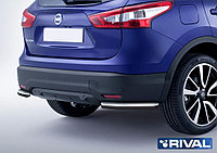 Защита заднего бампера d57 уголки Nissan Qashqai, 2013-