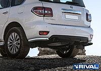 Защита заднего бампера d76 уголки Nissan Patrol, 2014-