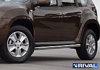 Защита порогов d57 Nissan Terrano, 2014-