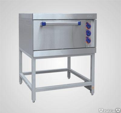 Шкаф жарочный электрический ШЖЭ91, лицевая нерж., модульная, одна стандартная духовка из угл. стали под против