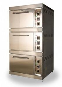 Шкаф жарочный электрический ШЖЭ93, лицевая нерж., модульная, три стандартных духовки из угл. стали под противе