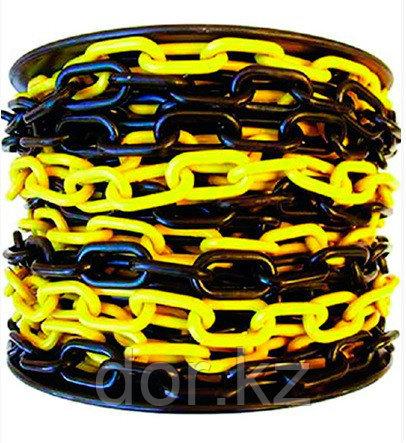 Цепь пластиковая  черно желтая 6 мм +77079960093