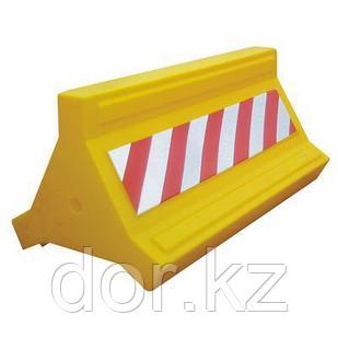 Парковочный дорожный пластиковый барьер 1,0м (водоналивное дорожное ограждение)