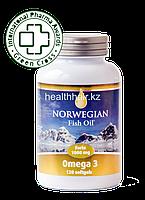 NORWEGIAN Fish Oil Omega 3 Forte 120 шт-Капсулы рыбий жир Омега 3 Форте