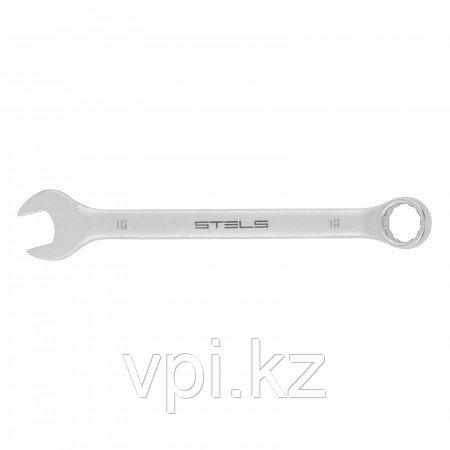 Рожково-накидной ключ, матовый хром, 16мм, Stels