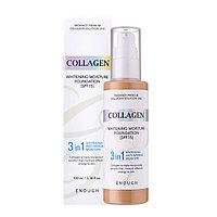 Enough COLLAGEN Whitening Moisture Foundation SPF15 Тональный крем  3в1 для сияния кожи 100мл.(21тон)