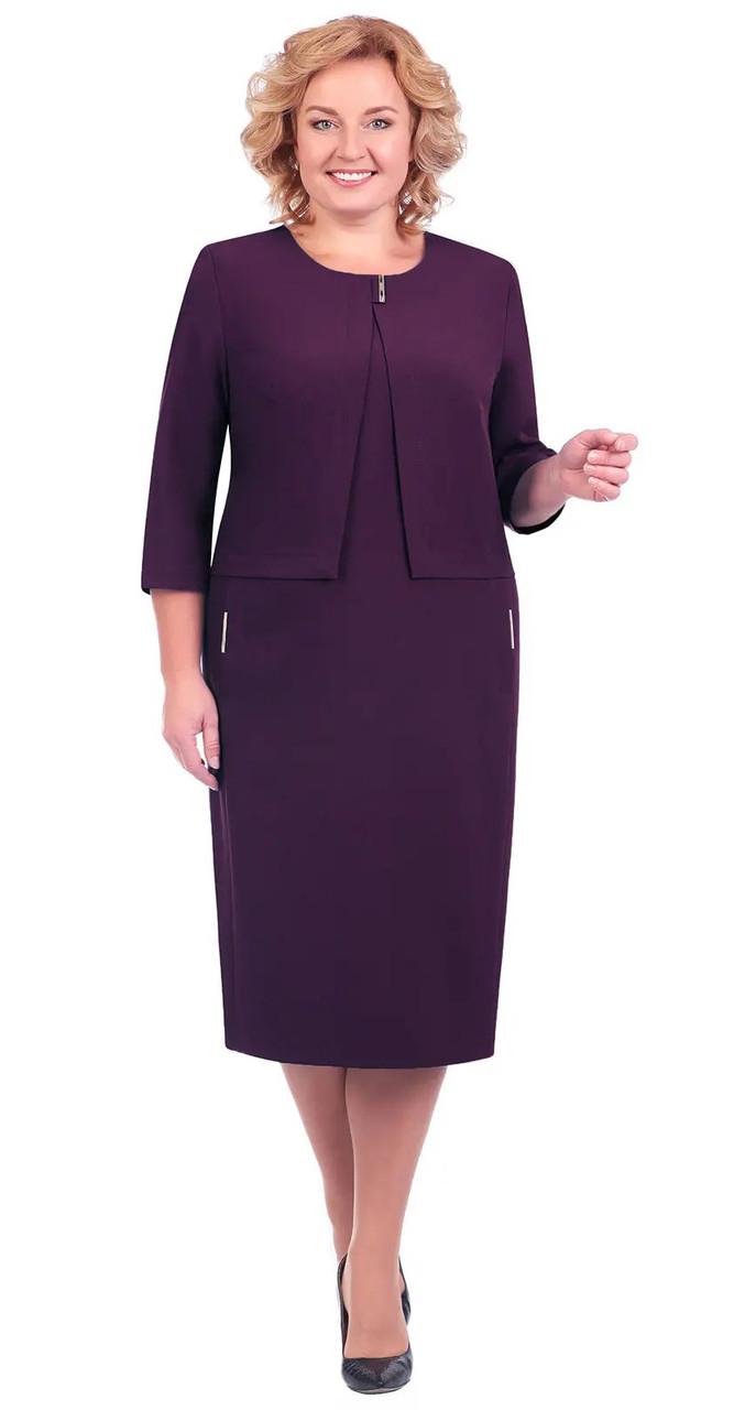 Платье Линия-Л-Б-1602/1, баклажан, 54
