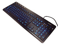 Клавиатура USB, A4 Tech KD-126-1, Черный ,KeyBoard slim, Multimedia 5 hotkeys, LED, black