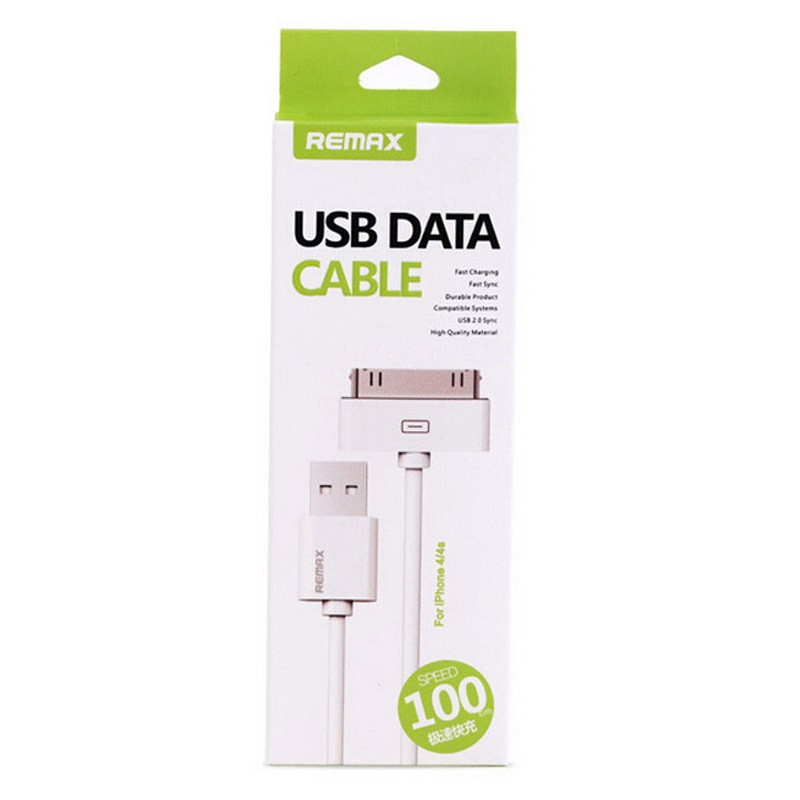 Кабель Remax USB Data Cable iPhone 4