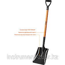 """Лопата """"Профи-10"""" совковая, деревянный черенок, с рукояткой, ЗУБР Профессионал, фото 3"""