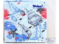 Салфетки сервировочные 33*33 Veiro Морская, 20 штук в пачке