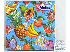 Салфетки сервировочные 33*33 Veiro Тропики, 20 штук в пачке